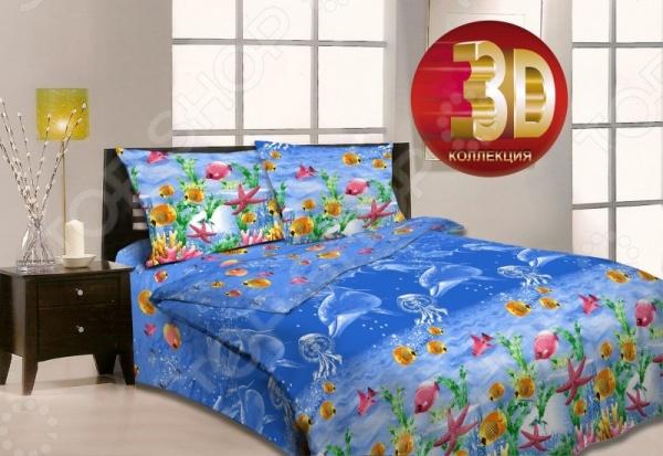 Комплект постельного белья «Карибское море». 1,5-спальный мар текс