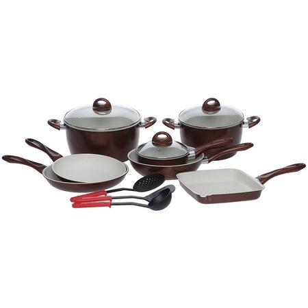 Купить Набор посуды с керамическим покрытием и аксессуары Bradex Cross