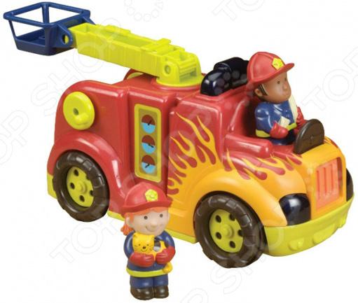 Машинка игрушечная B Dot «Пожарная машина с подъемником»