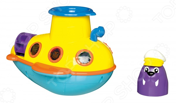 Игрушка для ванны Tomy «Смотровая подводная лодка» наборы для рисования tomy aquadoodle маркер малый