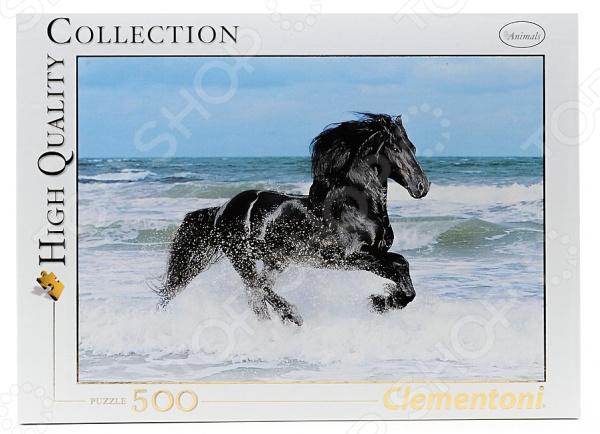 Пазл 500 элементов Clementoni «Вороной конь в море» пазл 160 элементов конь 03052