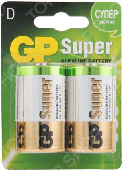 Набор батареек щелочных GP Batteries D/LR20 набор алкалиновых батареек gp batteries super alkaline тип аа 10 шт