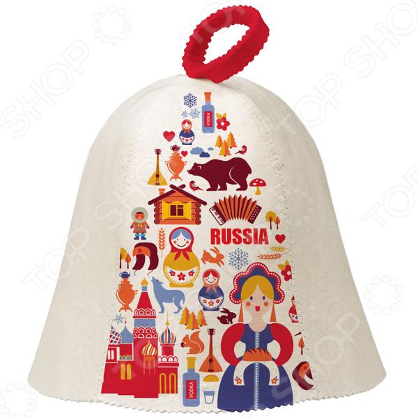 Шапка для бани и сауны Hot Pot «Матрешки» 41242 шапка для бани и сауны proffi буденовка цвет молочный