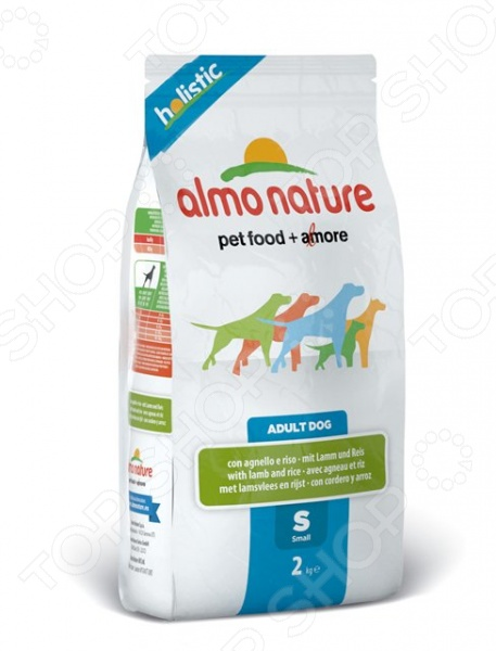Корм сухой для собак мелких пород Almo Nature Holistic Adult Dog with Lamb and Rice