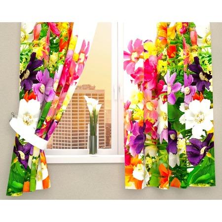 Купить Фотошторы Сирень «Весенние полевые цветы»