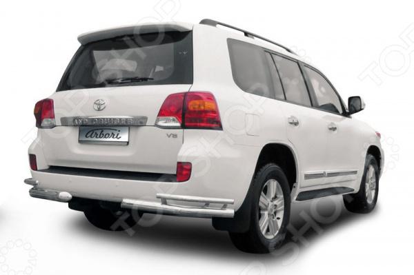 цена на Защита заднего бампера «уголки» Arbori двойная для Toyota Land Cruiser 200, 2013