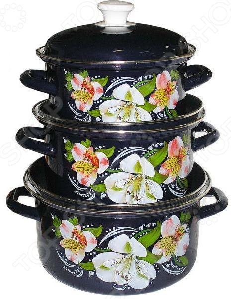 купить Набор посуды «Букет орхидей» по цене 2363 рублей