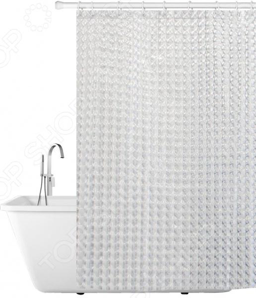 Штора для ванной Tatkraft Crystal 3D декоративные перегородки для зонирования комнаты калуга