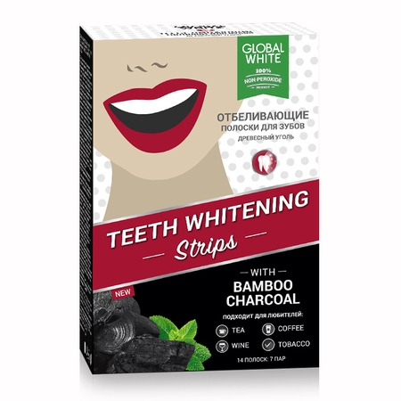 Купить Отбеливающие полоски для зубов «Древесный уголь»