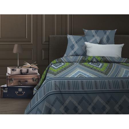 Купить Комплект постельного белья Wenge Ankara. Евро. Цвет: серо-голубой, зеленый