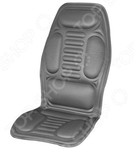 Накидка на сиденье с подогревом и терморегулятором SKYWAY «6 толстых полосок»
