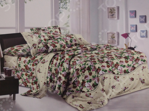 Комплект постельного белья «Цветочки». Евро