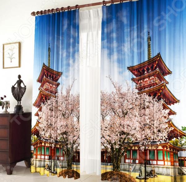 Фотошторы Zlata Korunka «Японский пейзаж»