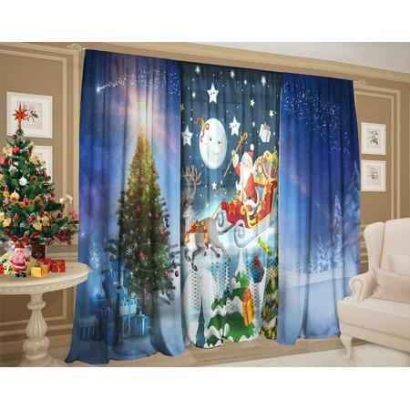 Купить Комплект: шторы и тюль ТамиТекс «Сказочный Санта Клаус»