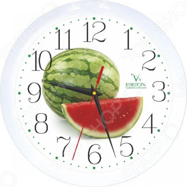 цены Часы настенные Вега П 1-7/7-96 «Арбуз»