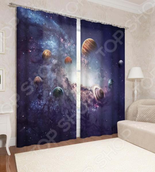 Фотошторы детские Сирень «Планеты солнечной системы» 1