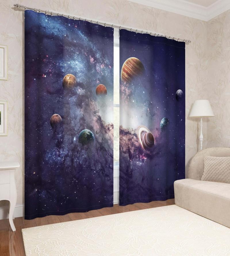 Фотошторы детские Сирень «Планеты солнечной системы»