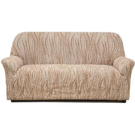 Купить Натяжной чехол на трехместный диван Еврочехол «Виста. Элегант Крем»