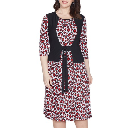 Купить Платье Лауме-Лайн «Броская комбинация». Цвет: леопардовый, красный