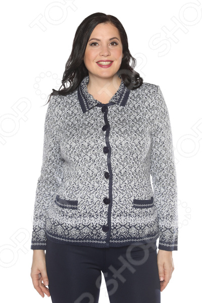 Жакет Milana Style «Прогулка под луной». Цвет: джинсовый жакет milana style хрустальная роса цвет джинсовый