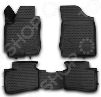 Комплект 3D ковриков в салон автомобиля Novline-Autofamily Hyundai i30 2007-2012 набор автомобильных экранов trokot для hyundai i30 2 2012 наст время на заднее ветровое стекло