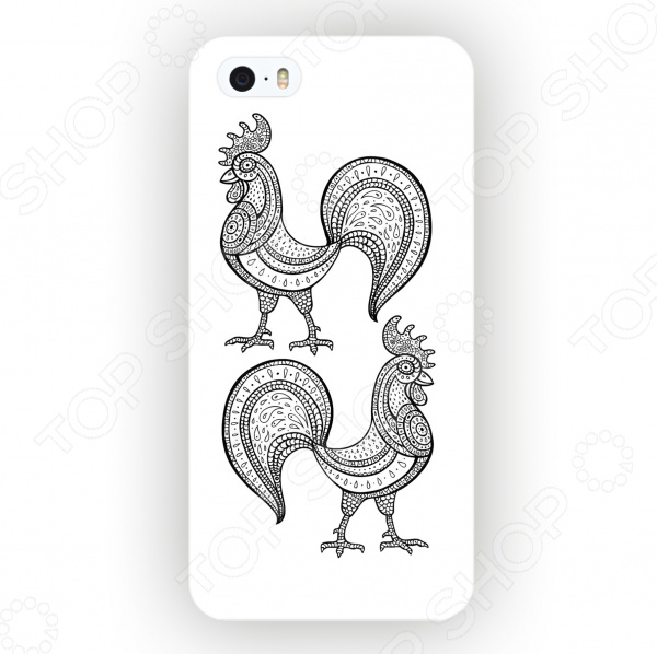 Чехол для iPhone 5 Mitya Veselkov «Два Петуха» mitya veselkov тюльпановый принт чехол для apple iphone 5 5s