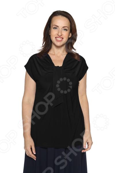 Блуза VEAS «Строгий лоск». Цвет: черный блуза