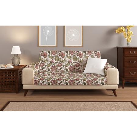 Купить Универсальная накидка «Уютный дом» на трехместный диван. Цвет: бежевый