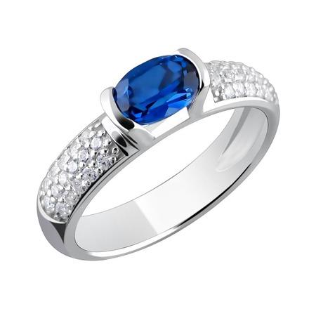 Купить Кольцо «Принцесса Персии» 01К252703-1. Модель: наносапфир