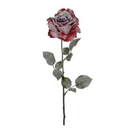 Купить Новогоднее украшение Christmas House «Роза заснеженная»