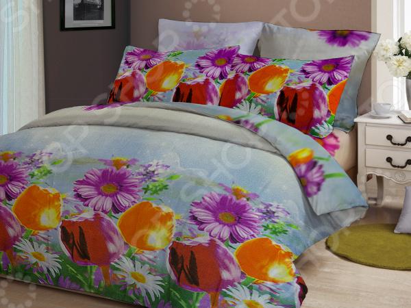 цена Комплект постельного белья «Садовый рай». 2-спальный онлайн в 2017 году