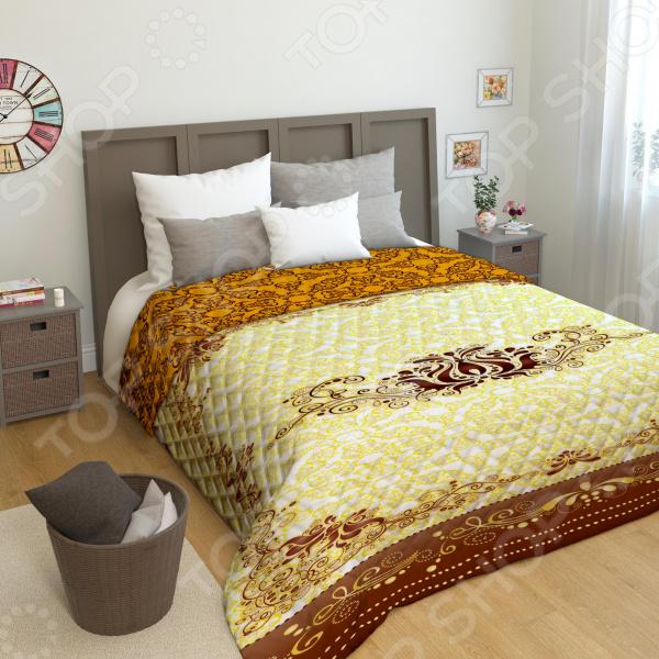 Покрывало двустороннее «Блеск золота» двустороннее покрывало одеяло сиреневый вечер