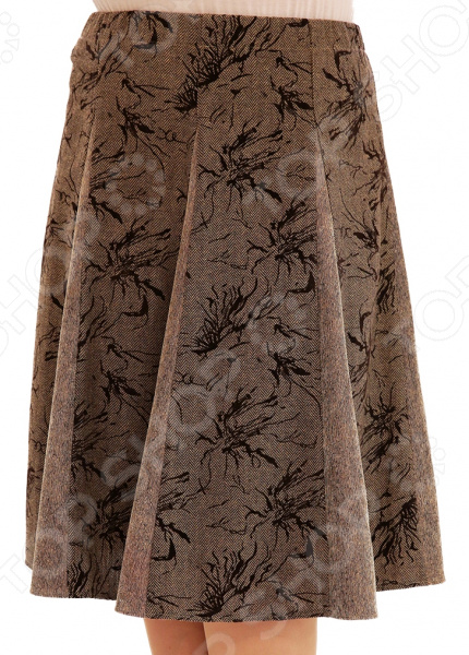 Юбка Лауме-Лайн «Волшебная улыбка». Цвет: коричневый