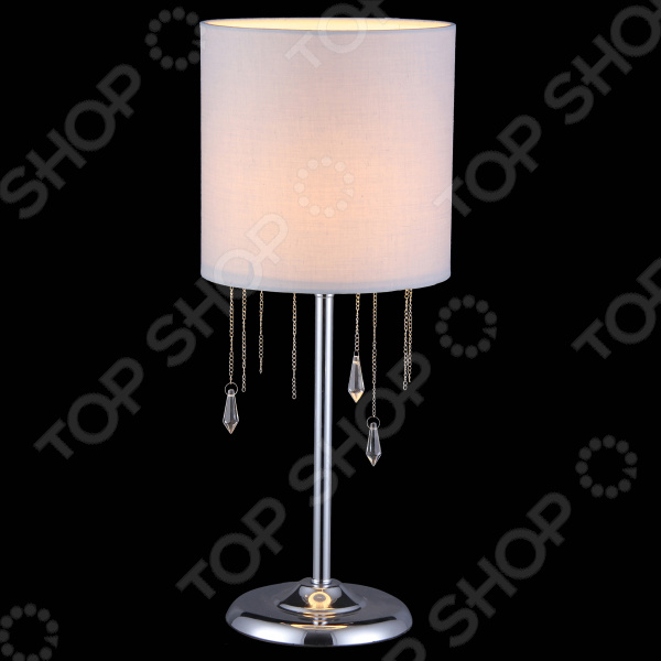 Настольная лампа Natali Kovaltseva MONZA 11426/1 CHROME natali kovaltseva люстра natali kovaltseva monza 11426 5c chrome