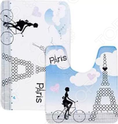Набор ковриков для ванной Tatkraft Paris Mademoiselle ёршик для туалета tatkraft paris mademoiselle acryl 3d