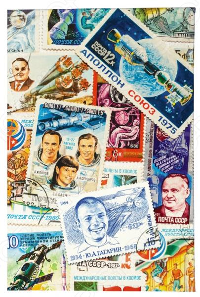 Обложка для паспорта Mitya Veselkov «Космос (марки)» обложка для паспорта printio космос внутри
