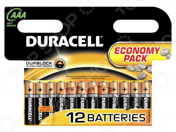 Набор батареек Duracell Basic LR03-12BL набор magmod basic kit mmbkit03