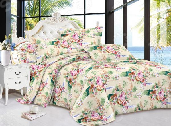 Комплект постельного белья «Сказочная мелодия». Евро. Рисунок : розы