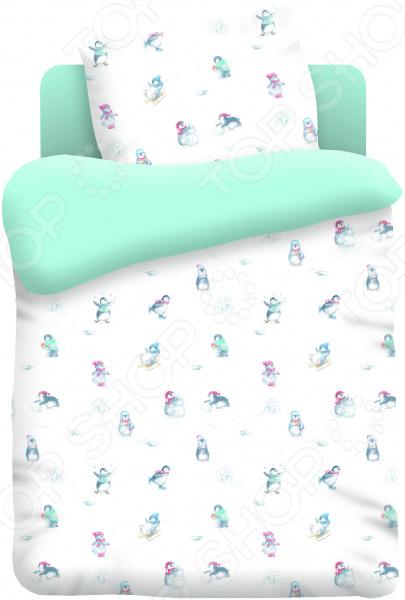 Ясельный комплект постельного белья Непоседа «Пингвинчики»