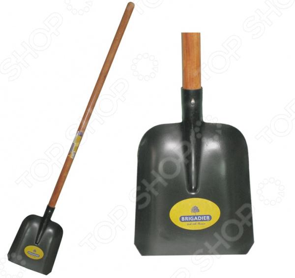 Лопата садовая совковая Brigadier 87013 лопата штыковая усиленная с деревянной рукояткой brigadier 88104
