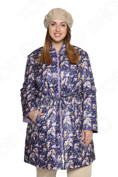 Куртка Гранд Гром «Зимние цветы». Цвет: сиреневый
