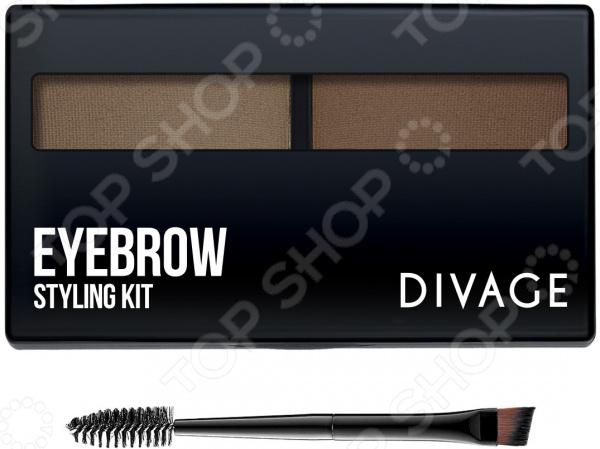 Тени для бровей DIVAGE Eyebrow Styling divage eyebrow styling набор для моделирования формы бровей 02 светло коричневый