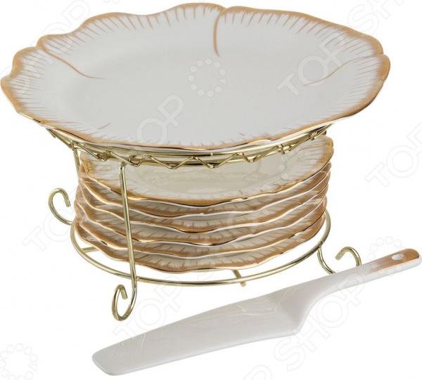 Набор: тарелки и лопатка Lefard «Цветочная симфония» 590-083 чайный набор lefard цветочная симфония 590 004
