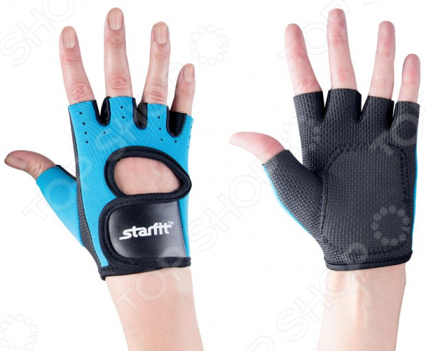 Перчатки для фитнеса Star Fit SU-107. Цвет: синий, черный Star Fit - артикул: 1563988