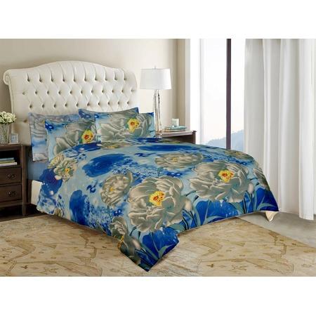 Купить Комплект постельного белья «Нежность». 2-спальный. Цвет: голубой