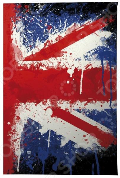 Обложка для паспорта кожаная Mitya Veselkov «Британский флаг в краске» часы наручные mitya veselkov британский флаг mvblack 22