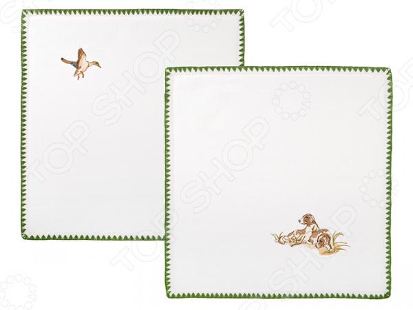 Набор салфеток для сервировки Santalino «Охота» 850-846-8 сидушка на стул santalino райский сад 850 818 5