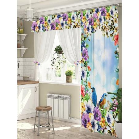 Купить Комплект штор для окна с балконом ТамиТекс «Маримба»