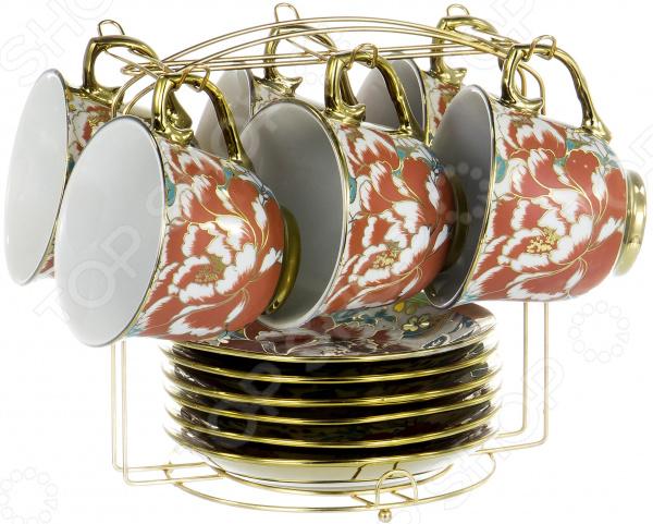 Набор чайный OlAff «Цветы» YSG-12MS-B-005
