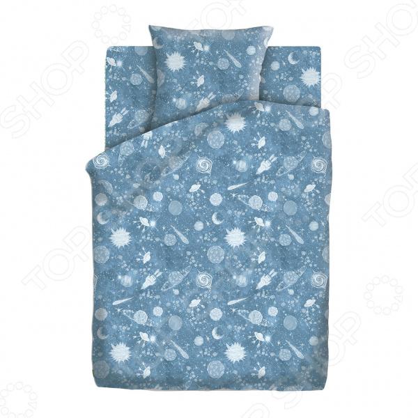 Детский комплект постельного белья Непоседа «Космос»